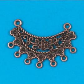 metalen bedel antiek koper 2 stuks
