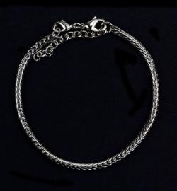Armband platinum 16cm, dik