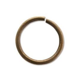 Enkele splitring oud brons 6 mm 50 stuks