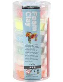 Foam Clay koker glitter  6x14gr