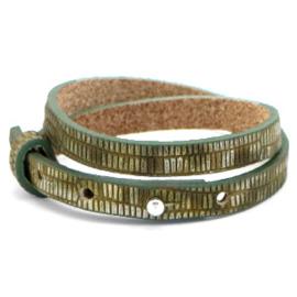 Cuoio armbanden leer 8mm dubbel voor 12 mm cabochon