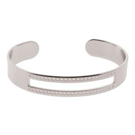 silver plated armband cuff 10x58mm