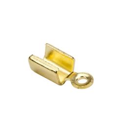 Koordsluiting klein 5x3mm goudkleur  8 stuks
