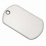 Dog Tag Stainless Steel klein 38 x 22mm