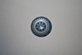 Mandala blauw 20mm