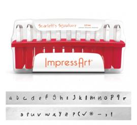 ImpressArt slagletterset Scarlett's Signature  2,5 mm lowercase