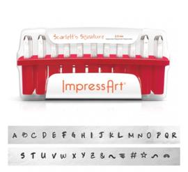 ImpressArt slagletterset Scarlett's Signature 2,5mm uppercase