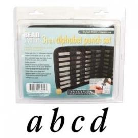 The Beadsmith Slagletterset Stylish Italic lowercase 3mm