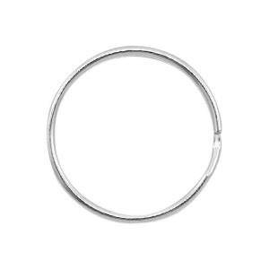sleutelhanger antiek zilver 24 mm ((10 stuks)