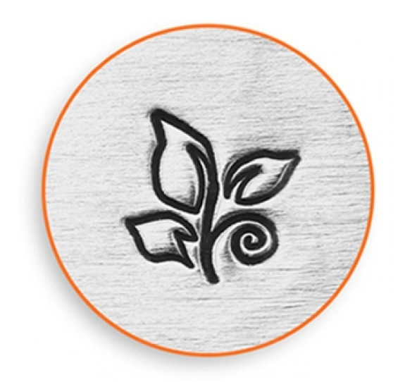 ImpressArt designstempel - Leaf swirl 6mm