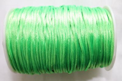 satijnkoord fluor groen