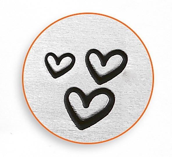 ImpressArt slagletter hearts 3 pak