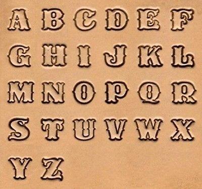 Leerstempel set standaard alphabet 13mm