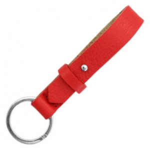 cuoio sleutelhanger leer 15 mm clear bright red