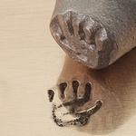 Handprint left 9,5mm