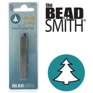 The Beadsmith designstempel - christmas tree 6mm