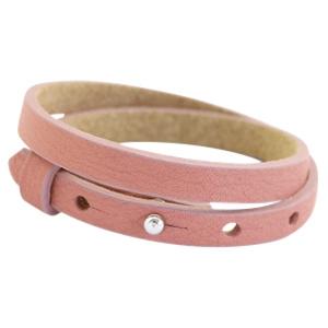 Cuoio armbanden leer 8mm dubbel voor 12 mm cabochon dark vintage pink
