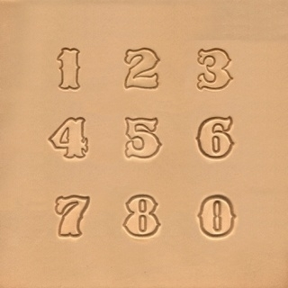 Leerstempelset standaard nummerset 13mm