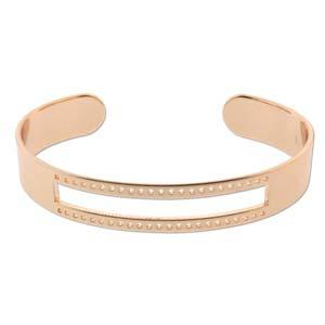 Rose gold plated cuff armband