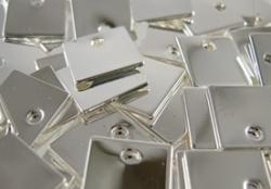 Vierkant Silverplated 10 X 10 Mm