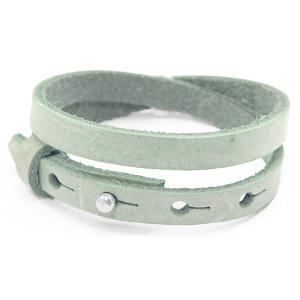 Cuoio armbanden leer 8mm dubbel voor 12 mm cabochon meadow green