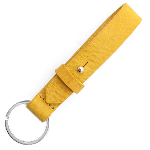 cuoio sleutelhanger leer 15mm mineral yellow