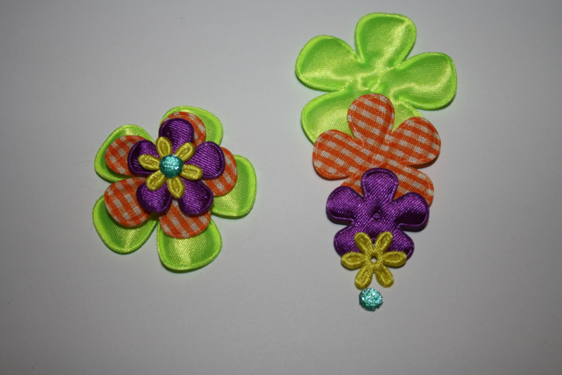 neon groen oranje paars en geel