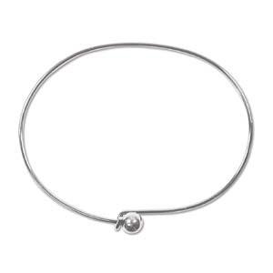 Armband Silver plated draad/bal
