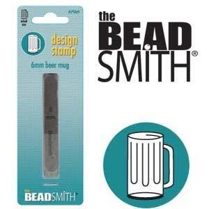 The Beadsmith designstempel - Beer mug 6 mm
