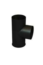 Ø130 mm T-stuk 90 graden zwart