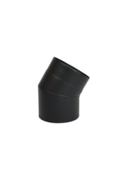 Ø150 mm bocht 30 graden zwart