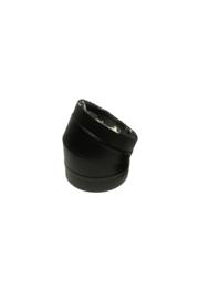 Isotube Plus ZWART | Bocht 30 graden  150/200