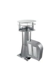 Rookgasventilator met vierkante basis en kap Ø 150 mm GCKD150-CH