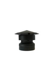 Isotube Plus ZWART | Valwindtrekkap met gaas 150/200