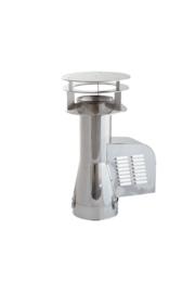 Rookgasventilator met inlaatpijp en kap Ø200 mm GCKD200CH-B-K