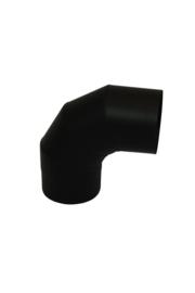 Ø130 mm bocht 90 graden zwart