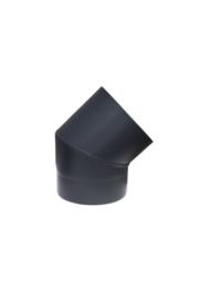 Ø110 mm bocht 45 graden zwart