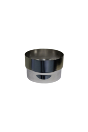 Verbindingsstuk RVS voor flexibel 100 mm