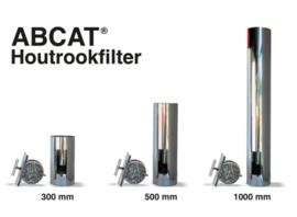 Houtrookfilter ABCAT RVS Ø 125 mm - 33 cm