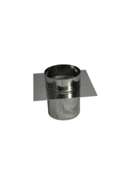 Topaansluiting RVS voor flexibel 100 mm