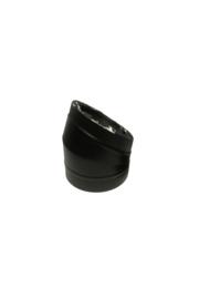 Isotube Plus ZWART | Bocht 15 graden  150/200