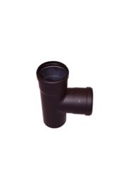 Pelletkachel T-stuk 90 graden ∅ 80mm (mof - mof - spie)