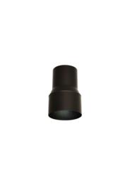 Pelletkachel verloopstuk ∅ 80mm naar Ø 100 mm spie-spie