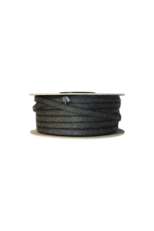 8 mm zwart koord per meter