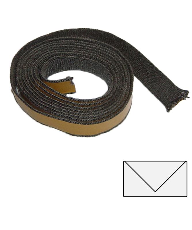 15 x 3 mm zwart plakkoord 3 meter