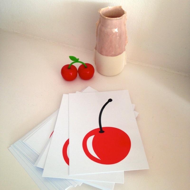 Rode Kers Ansichtkaart