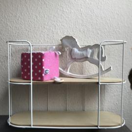 Speelkubus roze badstof