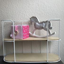 Speelkubus roze wafelstof