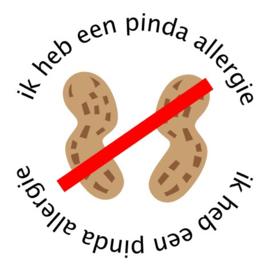 Allergie sticker - Pinda