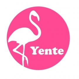 Flamingo silhouette met naam